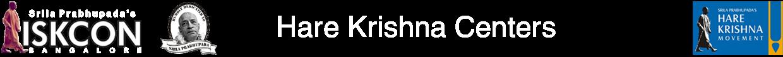 Hare Krishna Centers